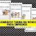 Calendário para imprimir - Turma da Mônica