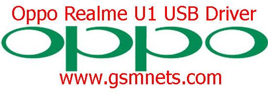 Oppo Realme U1 USB Driver Download