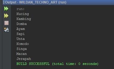 Contoh sederhana penggunaan Iterator pada Java