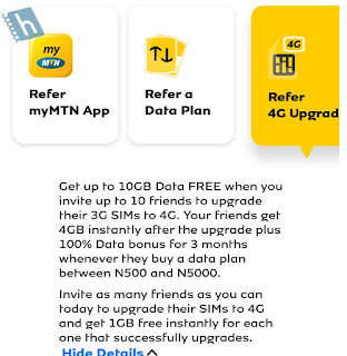 Refer a Friend to upgrade to 4G on MTN