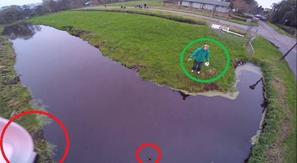 rescata un dron en el último segundo