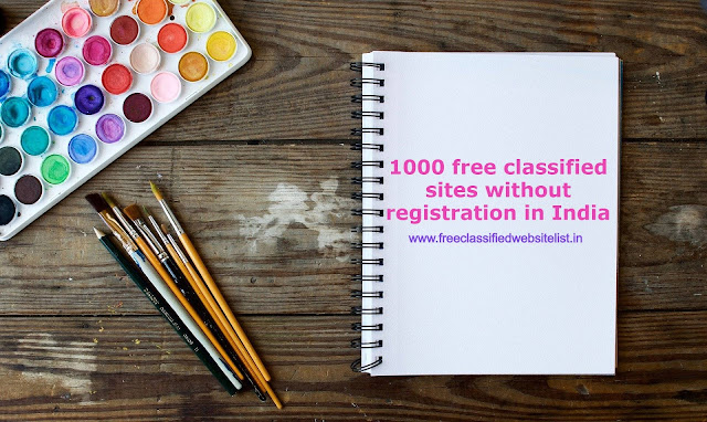 1000 free classified sites without registration in India