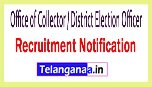 Office of Collector / District Election Officer Recruitment
