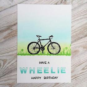 Have a wheelie happy birthday
