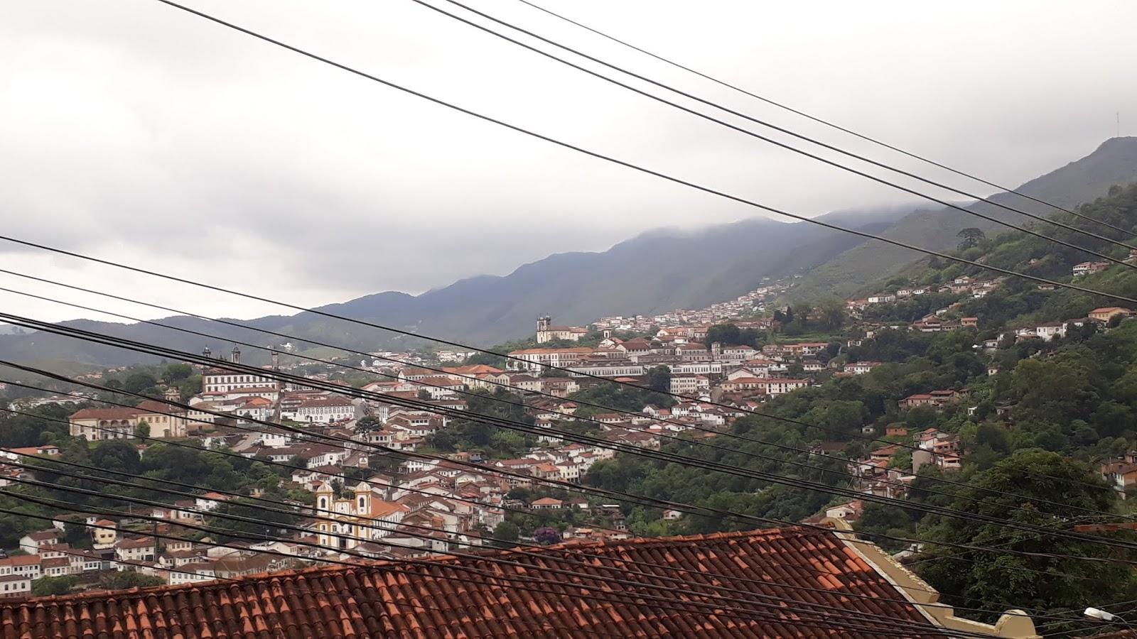 Vista para a cidade de Ouro Preto a partir da Igreja de Santa Efigênia