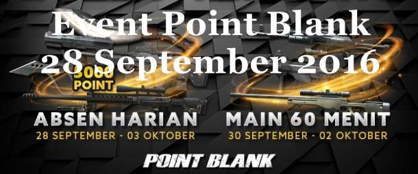 Event PB Garena Setelah Maintenance 28 September 2016