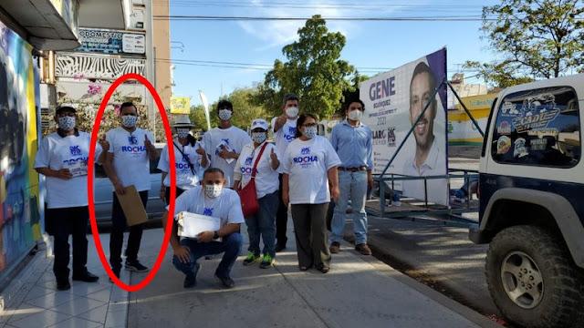 Joel Alfredo Gutiérrez Zambada sobrino de El Mayo Zambada e hijo de Águeda quien murió hace una semana aparece apoyando a candidato de Sinaloa