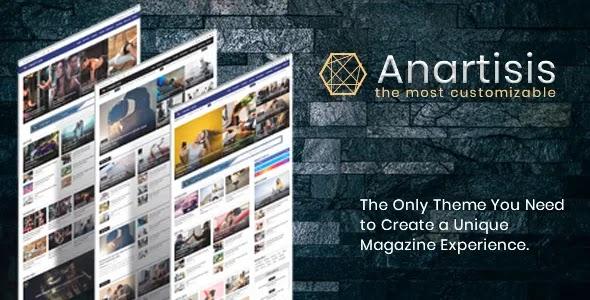 [Free Download] Anartisis v1.7.5 – News & Magazine Blogger Template