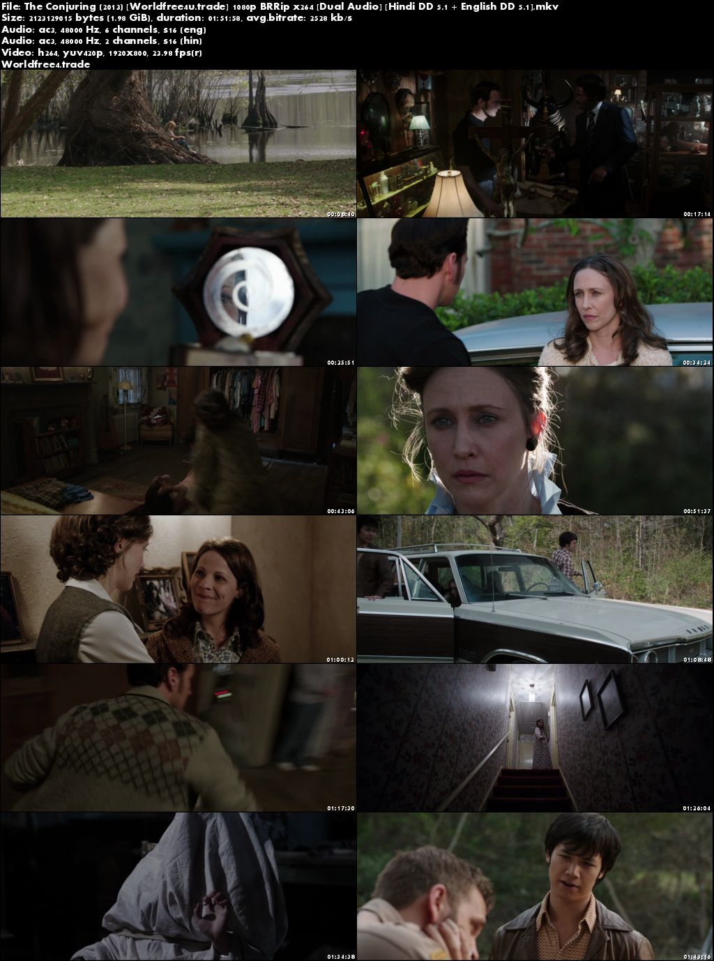 Screen Shoot of The Conjuring 2013 BRRip 1080p Dual Audio In Hindi English