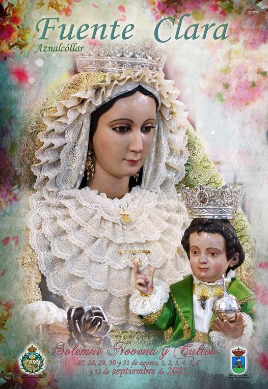 Cartel de Cultos de la Hermandad Sacramental de Ntra. Sra. de Fuente Clara 2021, Patrona de Aznalcóllar