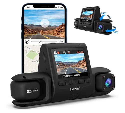 Imazing T200 PRO 4K Dual Dash Cam for Cars
