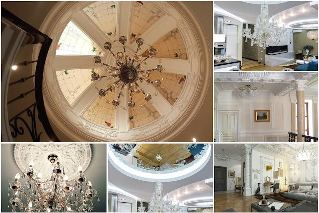 10 Decorative & Configurable Gypsum Ceiling Designs