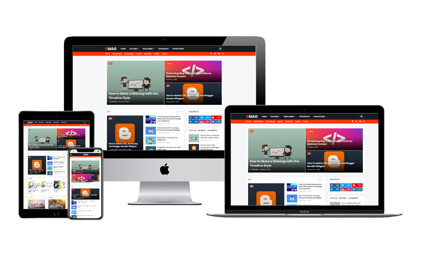 G Mag Premium free Responsive Blogger