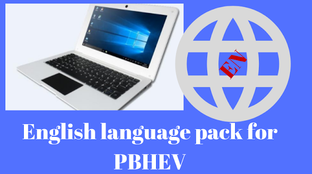 Download English language pack for PBHEV Laptops