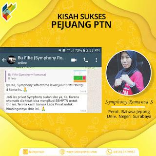 kisah sukses pejuang PTN Latiseducation bimbel online dan les privat