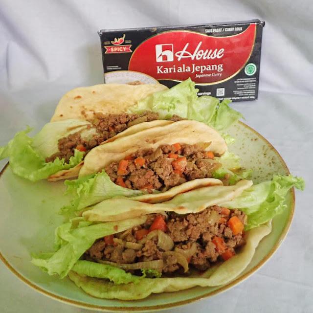 resep japanese taco curry house kari ala jepang