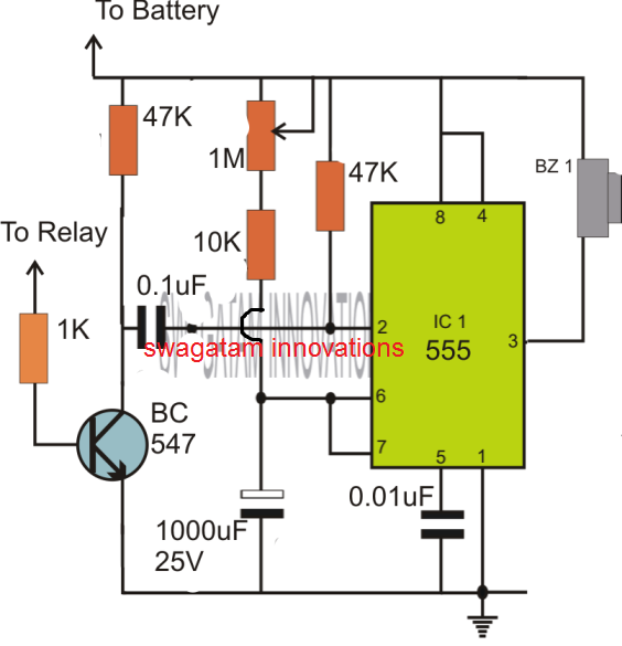 simple IC 555 timer using external trigger