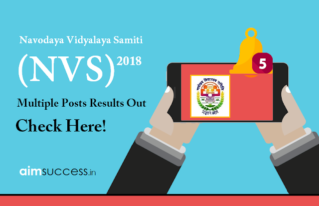 NVS Results for Multiple Posts 2018 Out – Check Here!