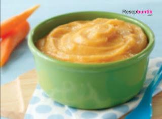Makanan pendamping ASI, MPASI umur 6 bulan, resep bubur susu sayur wortel, Cara bikin bubur wortel untuk bayi