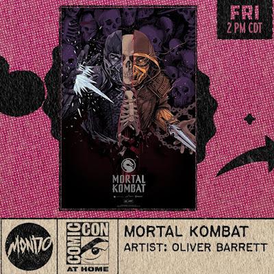 San Diego Comic-Con 2021 Exclusive Mortal Kombat Screen Print by Oliver Barrett x Mondo