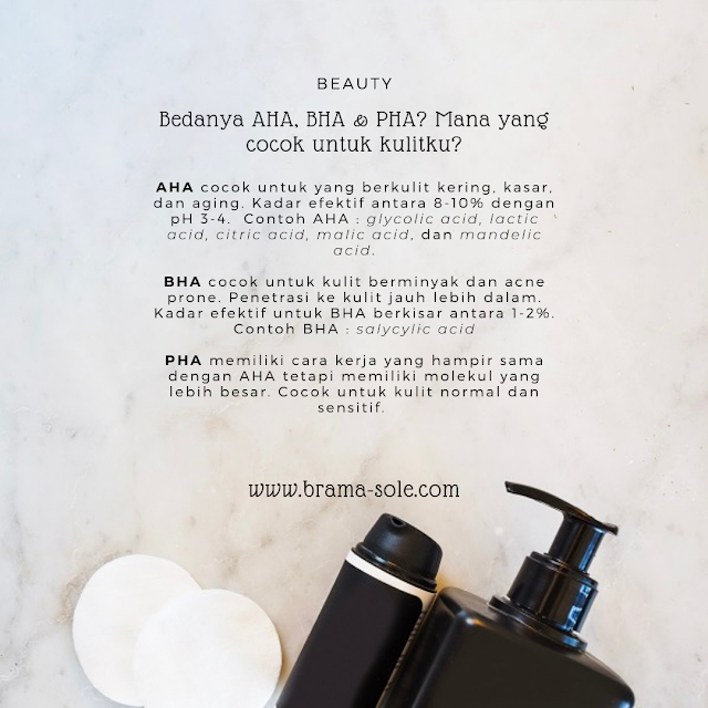 Apa bedanya AHA, BHA, dan PHA ? Dan mana yang sesuai untuk jenis kulit kita?