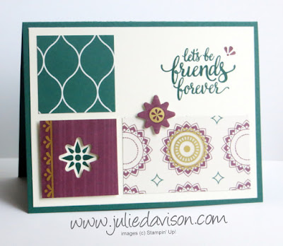 Stampin' Up! Eastern Palace ~ Eastern Beauty ~ 2017-2018 Annual Catalog ~ In Color Card ~ www.juliedavison.com