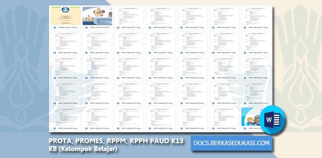 PROTA, PROMES, RPPM, RPPH PAUD K13 KB (Kelompok Belajar)