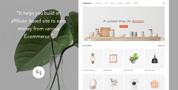 Blogger template Collective : Thème pour créer un site basé sur l' affiliation