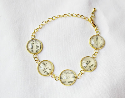 image bracelet gold jane eyre mr rochester literature text two cheeky monkeys jewellery jewelry