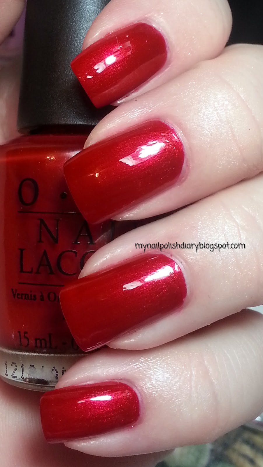 My Nail Polish Diary Opi Danke Shiny Red