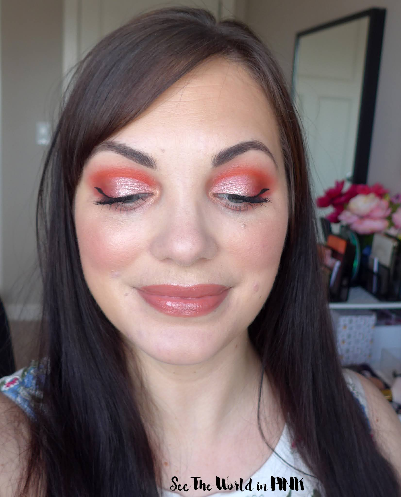 April Shop My Stash ~ Coral Pink Makeup Look