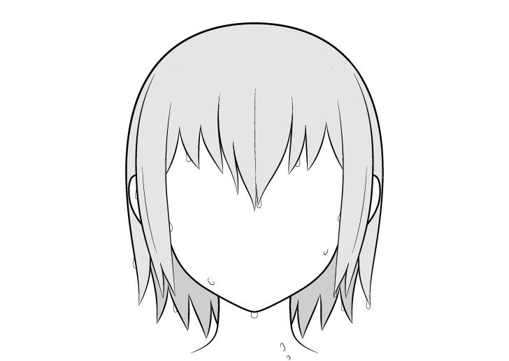 Gambar tetes air rambut anime