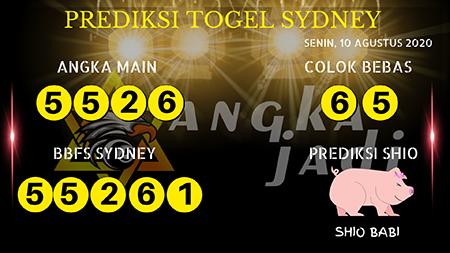 Prediksi Angka Jitu Sydney Senin 10 Agustus 2020