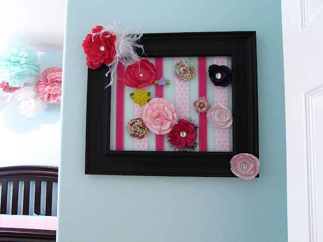 picture frame bow holder for nursery