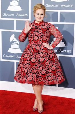 Foto Adele pada Grammy