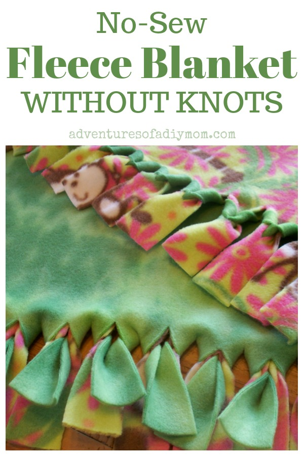 How To Make A No Sew Fleece Blanket Without Knots