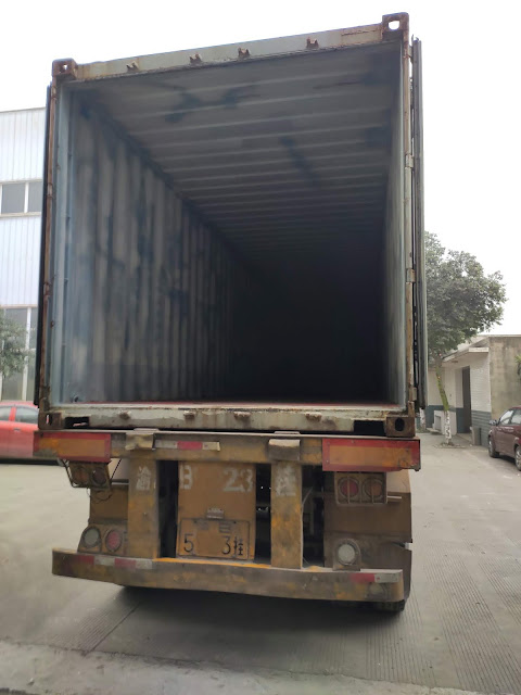 Container are ready for loading our tile making machines