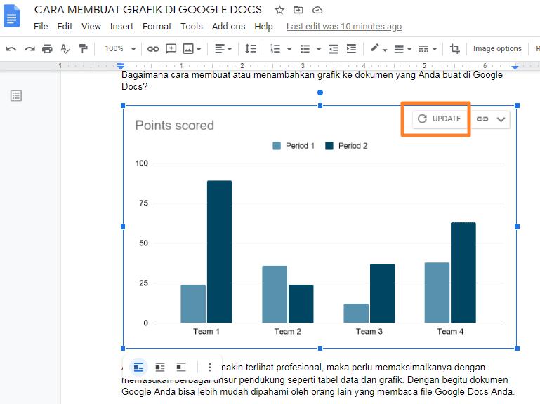 cara menyisipkan grafik di google docs