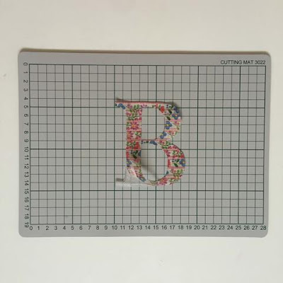 Washi Tape Monogram Notebook