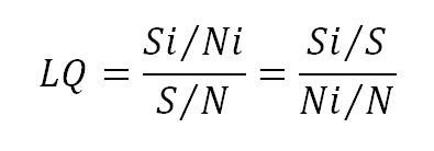 Location Quotient Analysis (LQ)