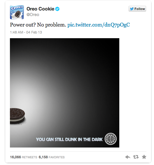 Picture of tweet by Oreo