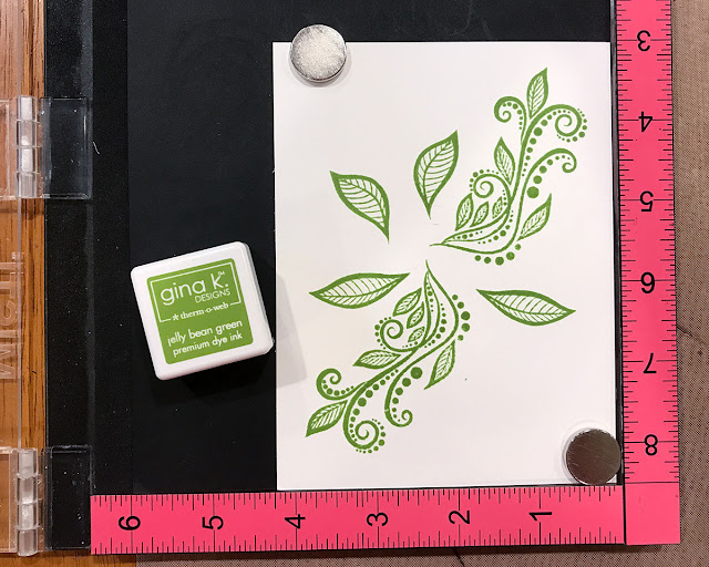 Card design and layering stamp images with the MISTI Tutorial by Juliana Michaels