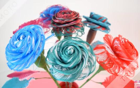 Aprende La Tecnica Facil De Como Hacer Rosas De Tela Deshilada Haz
