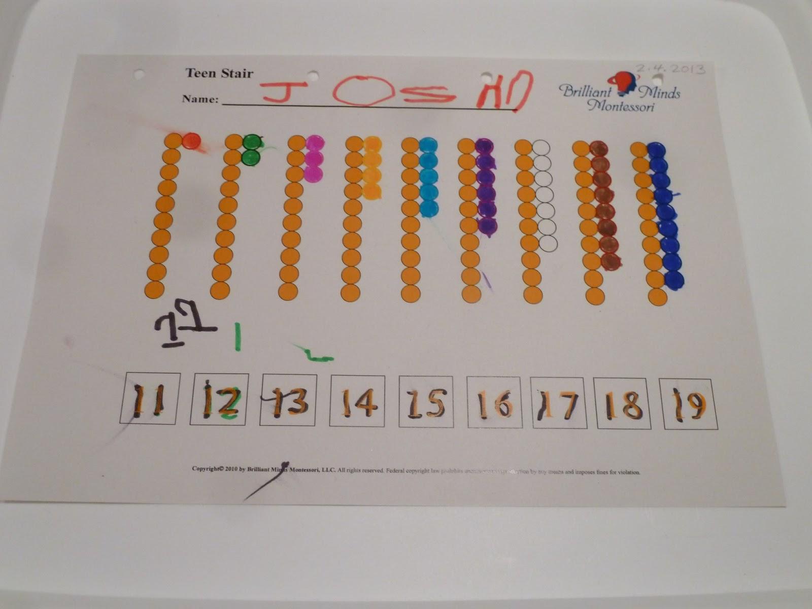 Family Fecs Montessori Activity Teen Bead Stair
