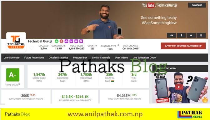 technical guruji youtube channel, anil pathak, pathaks blog