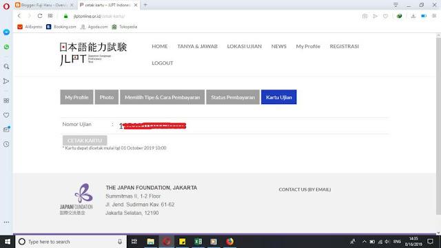 Cara daftar JLPT online 2019