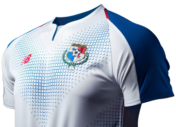 1d03af584ee 1 of 4. 2 of 4. 3 of 4. 4 of 4. 1 of 4. The Panama 2018 World Cup away kit  by New Balance is white from ...