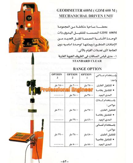 دليل المهندس فى الأجهزة المسحية من شركة المقاولون العرب