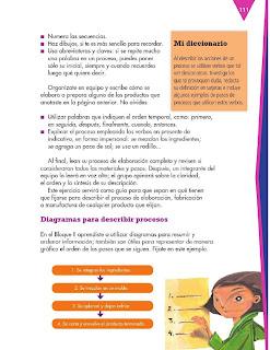 Apoyo Primaria Formación Español 3ro. Grado Bloque III Lección 10 Practica social del lenguaje 10, Describir un proceso de fabricación o manufactura