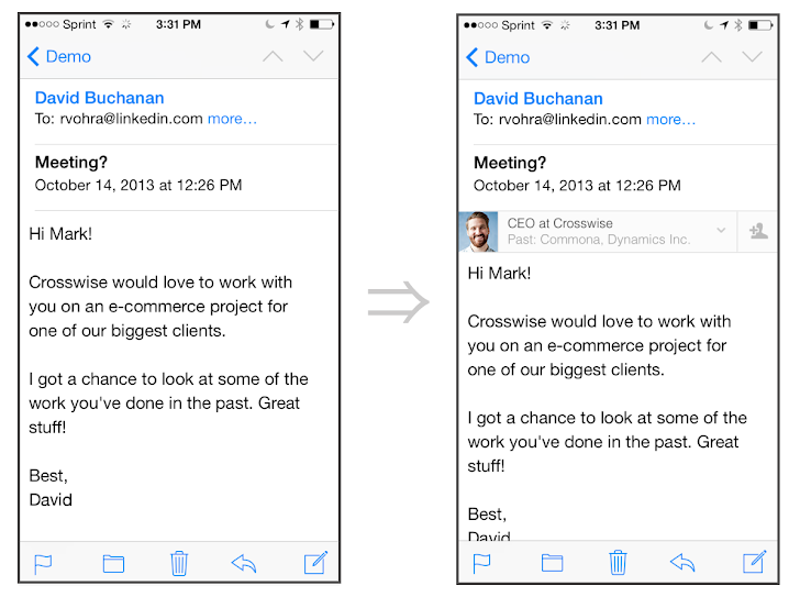 'LinkedIn Intro' iOS app can read your emails in iPhone
